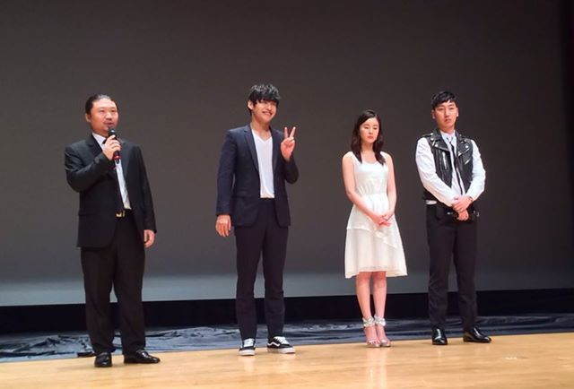 Director Oh In Chun and actors Kang Hanul, Han Hyen Rin and Park Doo Sik at the PIFAN film festival Mourning Grave Q and A.